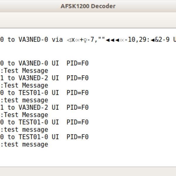 Command Line APRS Message